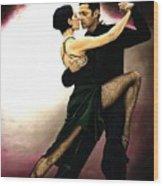 The Temptation Of Tango Wood Print