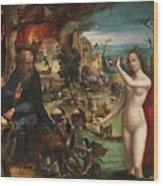 The Temptations Of Saint Anthony Abbot Wood Print
