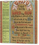 The Ten Commandments Wood Print by Pg Reproductions