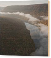 The Tennessee River Cuts Through Signal Wood Print