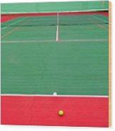 The Tennis Court Wood Print
