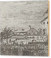 The Terrace [lower Right] Wood Print