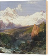 The Teton Range, 1897 Wood Print