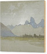 The Tetons, Idaho, 1879 Wood Print