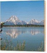 The Tetons On Jackson Lake - Grand Teton National Park Wyoming Wood Print