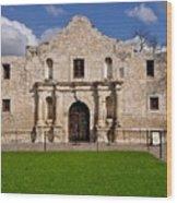 The Texas Alamo Wood Print