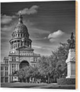 The Texas State Capitol Wood Print