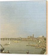 The Thames From The Terrace Of Somerset House Wood Print