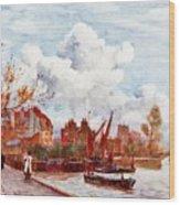 The Thames Wood Print