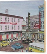 The Theater District Portsmouth Ohio 1948 Wood Print