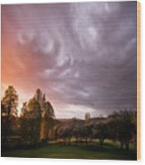 The Theatre Of Clouds Wood Print
