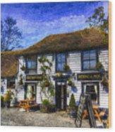 The Theydon Oak Pub Art Wood Print