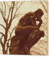 The Thinker Wood Print