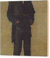 The Thinker, Portrait Of Louis Kenton Wood Print