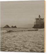 The  Third Cliff House And Seal Rocks From Pier, San Francisco,  Circa 1895 Wood Print