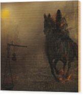 The Third Seal Wood Print by Hazel Billingsley