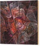 The Third Voice - Fractal Art Wood Print