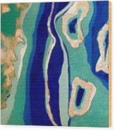 The Three Atolls Wood Print