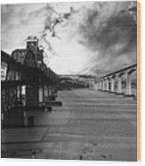 The Three Benicia-martinez Bridges . A Journey Through Time . Black And White Wood Print