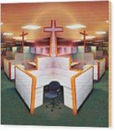 The Three Crosses Wood Print