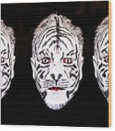 The Three Faces Wood Print