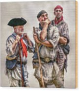 The Three Frontiersmen  Wood Print