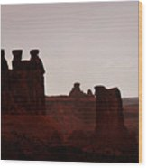 The Three Gossips Arches National Park Utah Wood Print