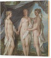 The Three Graces Wood Print