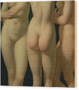 The Three Graces Wood Print