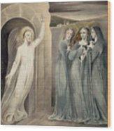 The Three Maries At The Sepulchre Wood Print