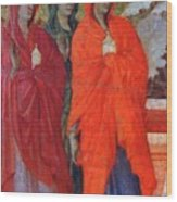 The Three Marys At The Tomb Fragment 1311 Wood Print