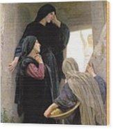 The Three Marys At The Tomb Wood Print