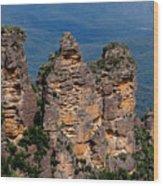 The Three Sisters Katoomba Australia Wood Print