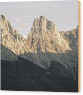 The Three Sisters of the Rockies Wood Print
