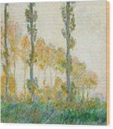 The Three Trees Wood Print