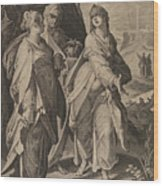 The Three Women Returning From The Tomb Wood Print