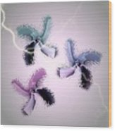 The Thunderbolt Dance Of Rose Butterflies - 2 Wood Print by Jacqueline Migell