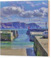 The Tide Is Out In The Harbour Wood Print
