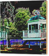 The Tides Inn Playground Wood Print