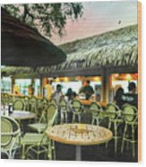 The Tiki Bar Wood Print