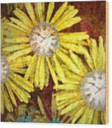 The Time Flowers Wood Print