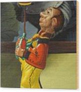 The Tin Juggler Wood Print