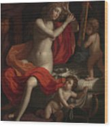 The Toilette Of Venus Wood Print