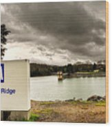 The Top Of Blue Ridge Dam Wood Print