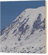 The Top Of Mount Rainier Wood Print