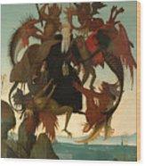 The Torment Of Saint Anthony Wood Print
