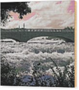 The Torrent Above Niagara Wood Print