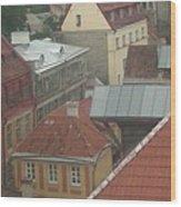 The Towers Of Old Tallinn Estonia Wood Print