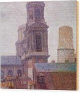 The Towers Saint Sulpice 1887 Wood Print