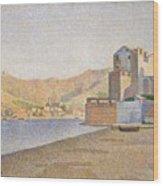 The Town Beach Collioure Opus 165 Collioure La Plage De La Ville Opus 165 Wood Print